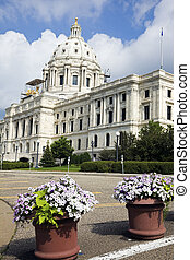 花, の前, 州州議事堂