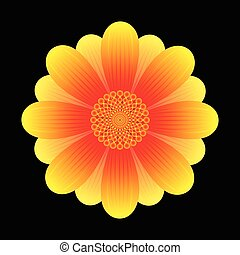 花, ひまわり, 抽象的