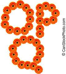 花, アルファベット