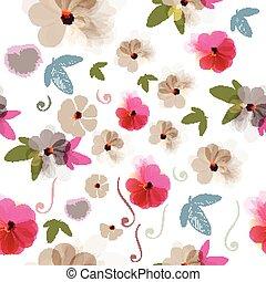 花, イラスト, 美しい, 花