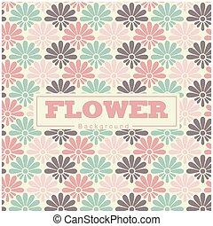 花, カラフルである, パターン, イメージ, ベクトル, 背景