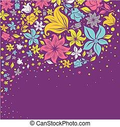 花, カラフルである, 背景