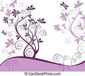 花, カード, すみれ