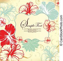 花, カード, 招待