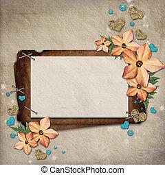 花, カード, 挨拶