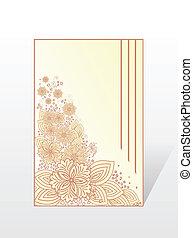 花, カード, 黄色