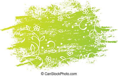 花, グランジ, デザイン
