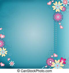 花, グリーティングカード, 背景