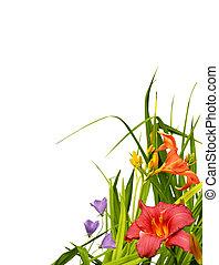 花, コーナー, ボーダー