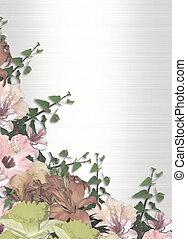 花, コーナー, 水彩画, 春
