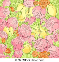 花, シャクヤク, 背景