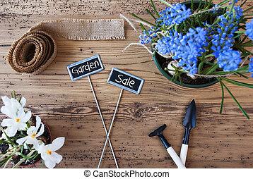 花, テキスト, サイン, 庭, セール