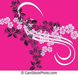 花, テンプレート, ピンク