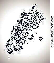 花, デザイン, henna