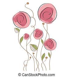 花, デリケートである, 背景