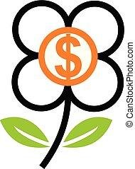 花, ドル, 投資