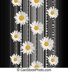 花, バックグラウンド。, ベクトル