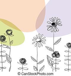 花, バックグラウンド。, ベクトル, eps10