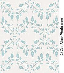 花, バックグラウンド。, ベクトル, pattern., seamless