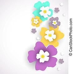 花, バックグラウンド。, 抽象的, ベクトル, イラスト