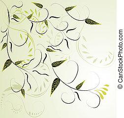花, バックグラウンド。, 抽象的, 緑