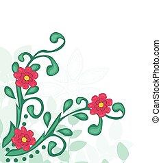 花, バックグラウンド。, 抽象的, vector.