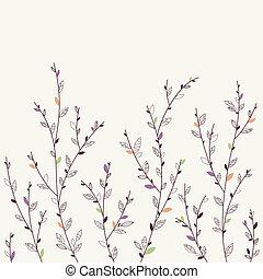 花, バックグラウンド。, 要素, デザイン
