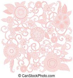 花, パステル, ベクトル, frame.