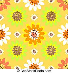 花, パステル, 抽象的, seamless, パターン