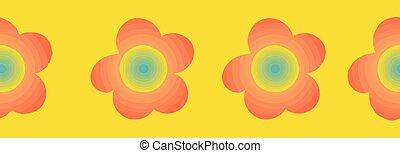 花, パターン, ボーダー, カラフルである, seamless, 印刷