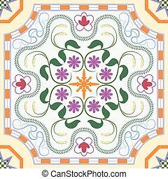花, パターン, 装飾,  seamless, 中国語