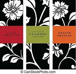 花, フレーム, セット, ベクトル