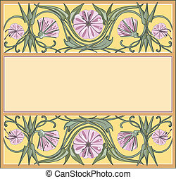 花, フレーム, テンプレート