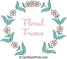 花, フレーム, ロマンチック