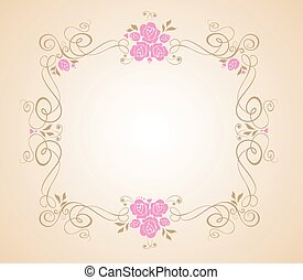 花, フレーム, 結婚式
