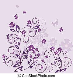 花, ベクトル, -, 背景