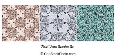 花, ベクトル, 背景, seamless
