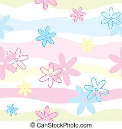 花, ベクトル, seamless, パターン