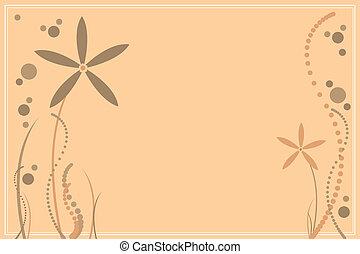 花, ベージュのバックグラウンド