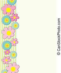 花, ボーダー, 側