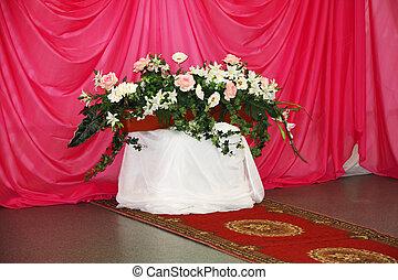 花, ポット, 花束, 人工