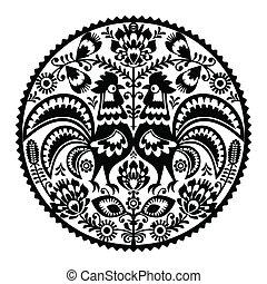 花, ポーランド語, 刺繍
