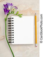 花, メモ用紙, ブランク