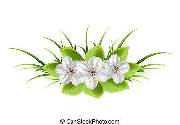 花, 中に, a, 草