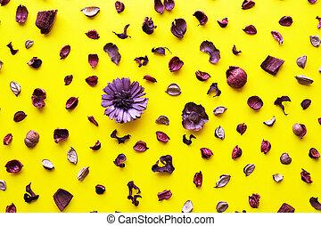 花, 乾かされた, 背景, ポプリ