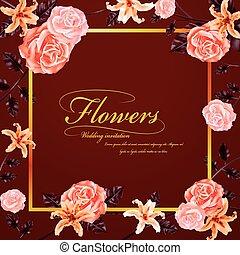 花, 優美である, 結婚式の招待