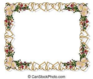 花, 優雅である, 結婚式の招待