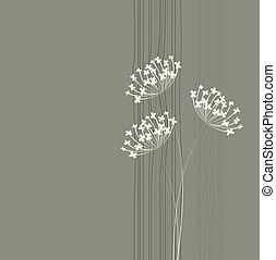花, 単純である, バックグラウンド。, ベクトル, デザイン, きれいにしなさい, template.