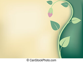 花, 古い, 背景