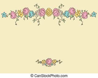 花, 図画, カード